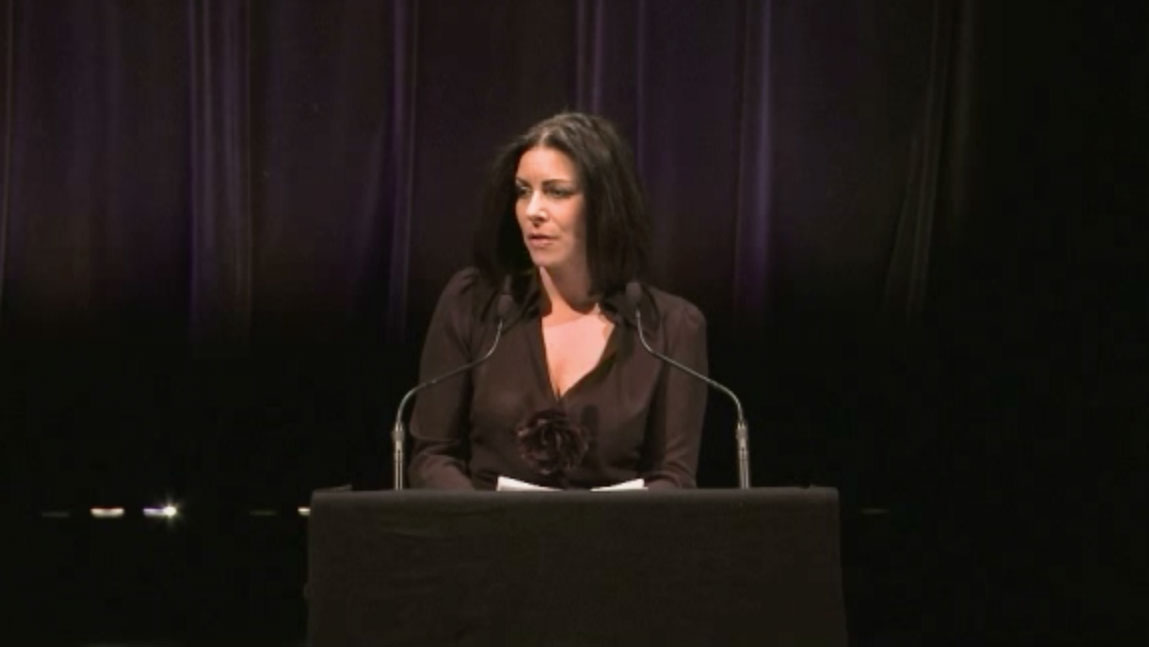 Video still of Manon Gauthier from The Walrus Talks The Art of Cultural Diversity