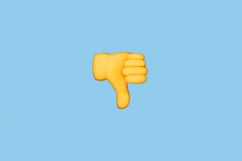 emoji giving thumbs down
