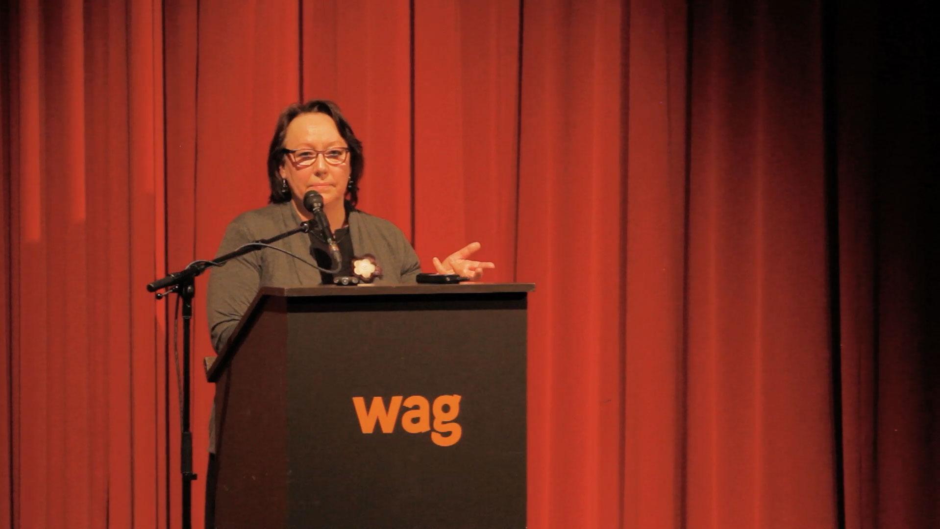 Video still of Sheila Watt-Cloutier from The Walrus Talks Arctic