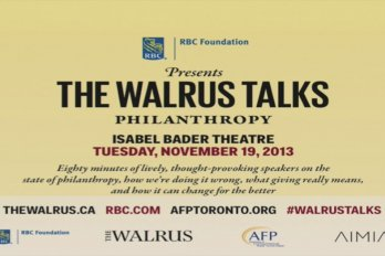 Video title from The Walrus Talks Philanthropy