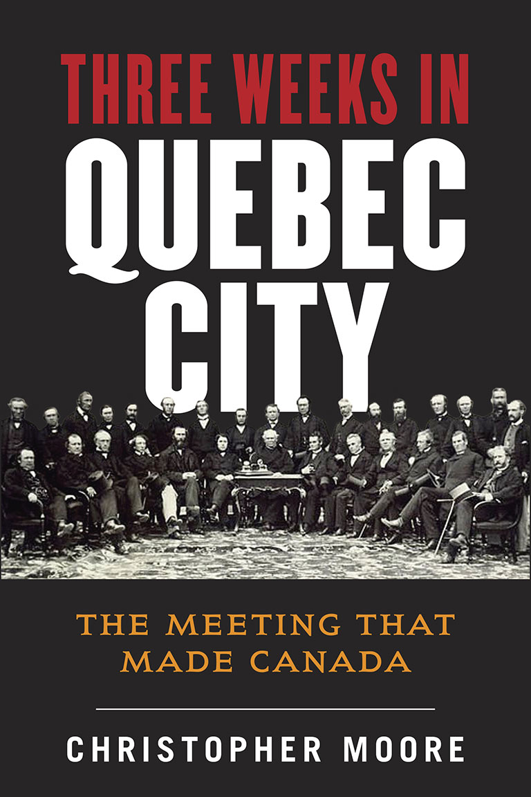 Book jacket of Three Weeks in Quebec City courtesy of Allen Lane