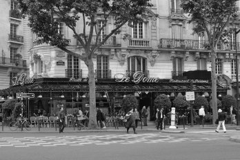 street and cafe in paris france