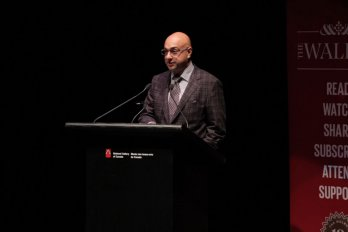 Video still of Ali Velshi from The Walrus Talks Energy