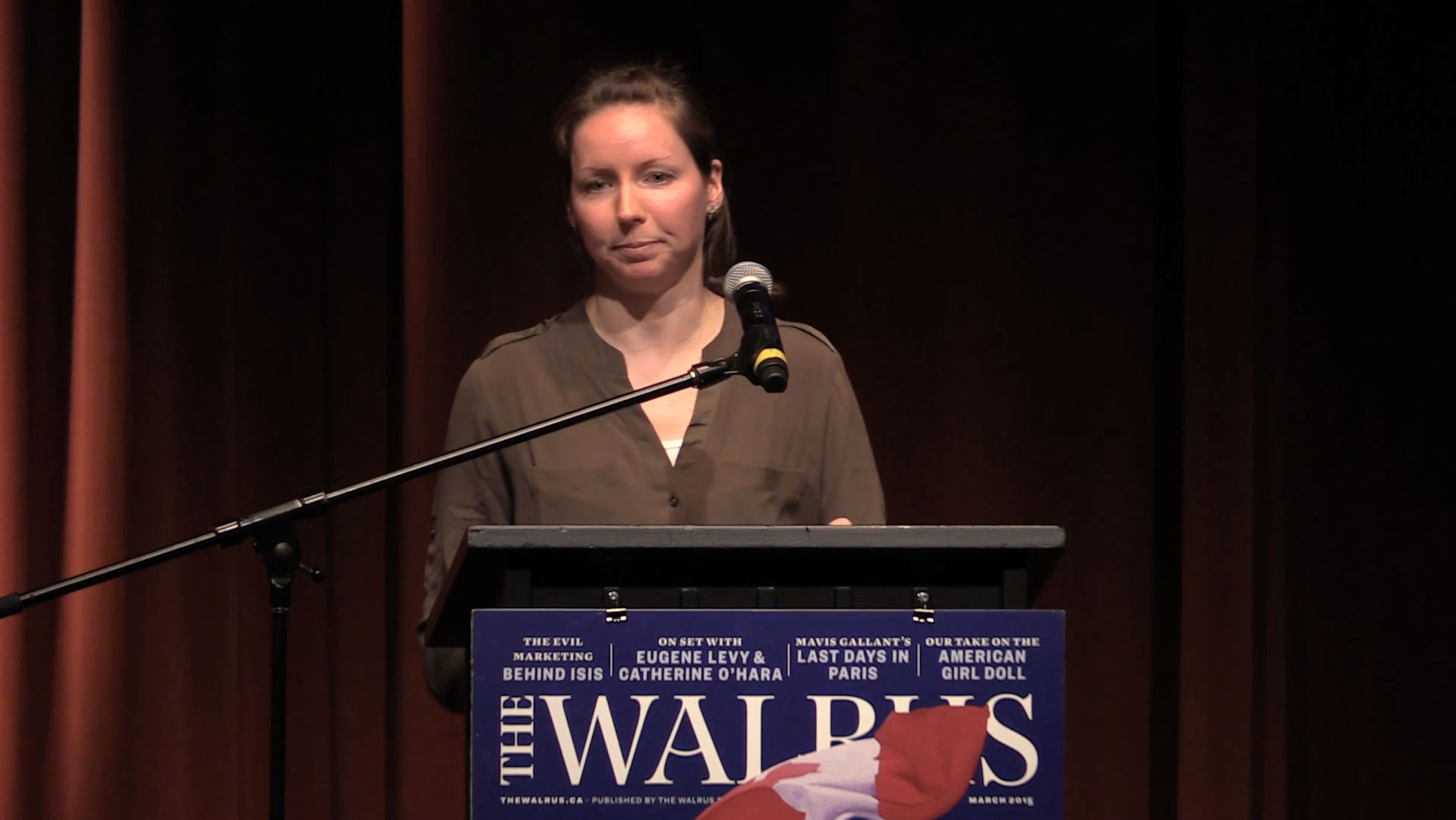 Video still of Angela Giles from The Walrus Talks Water