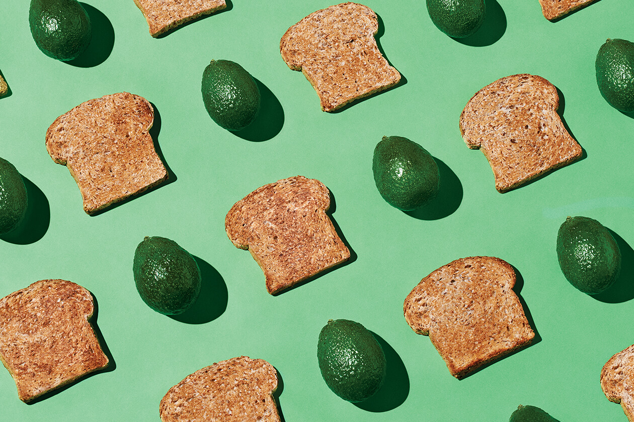 Avocados and toast