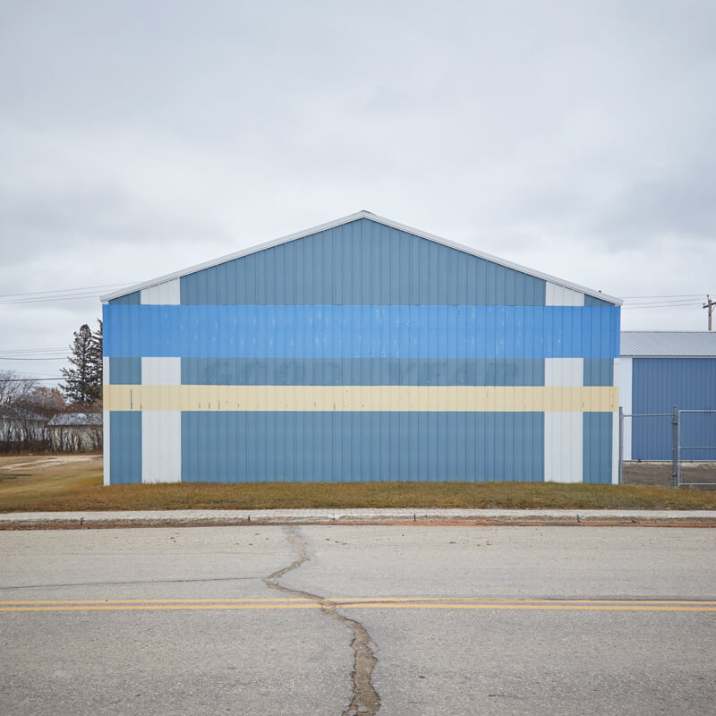Side of building in Gilbert Plains, Manitoba