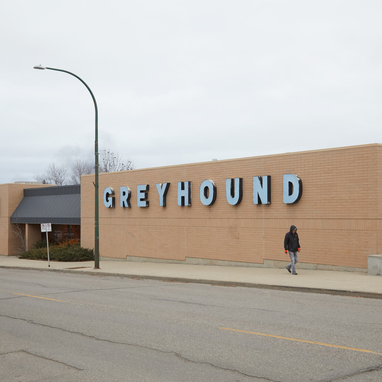 Greyhound terminal in Brandon, Manitoba