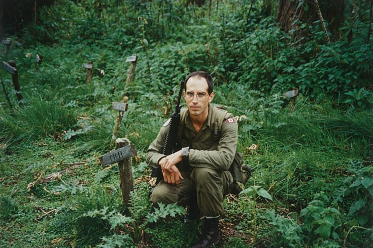 Photograph of a Canadian Soldier in Rwanda