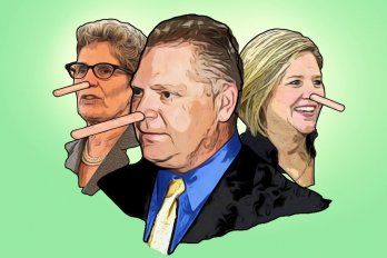 Illustration of Famous Politicians with Pinocchio Noses
