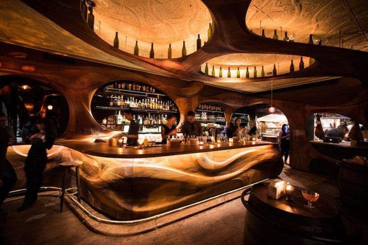 The interior of bar raval in Toronto