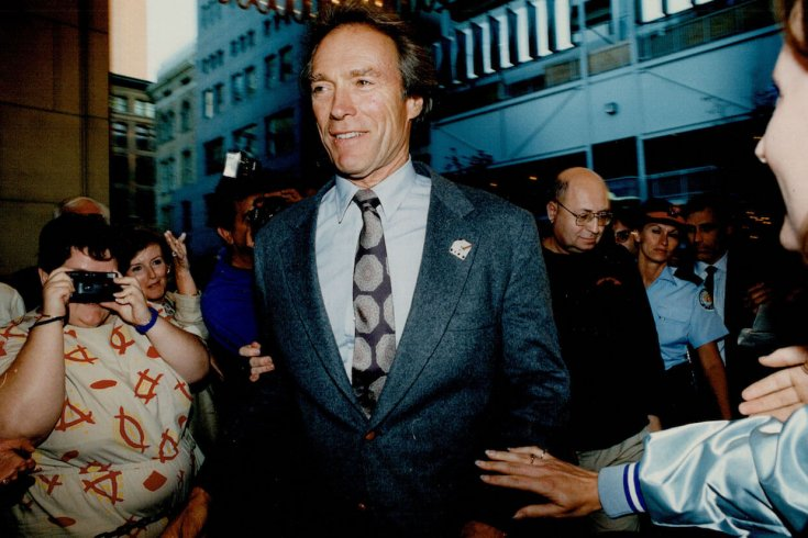 pierre Elliott trudeau walking through a crowd