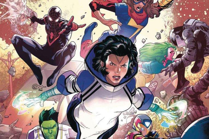 Marvel superheroes posing