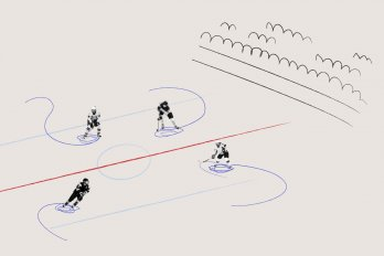 Illustration of a Women's Hockey Team on the Ice