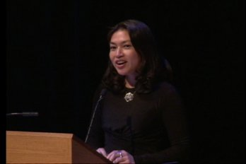 Video still of Mellissa Fung from The Walrus Talks Philanthropy