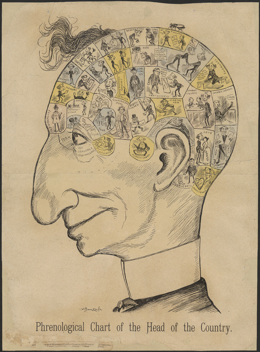 Phrenological Chart of Sir John A. Macdonald