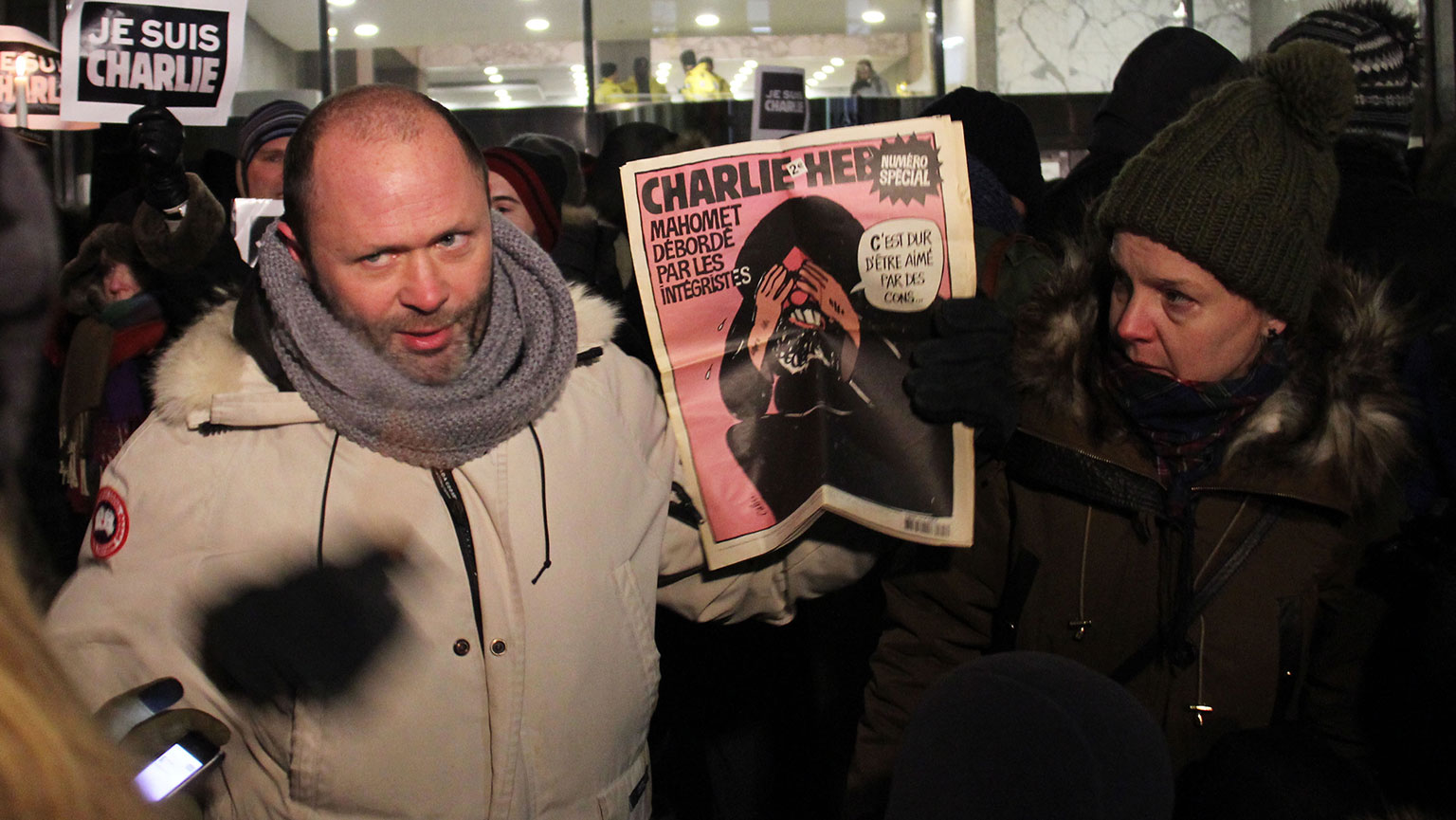 Photograph of Toronto's Charlie Hebdo vigil by Michael Fraiman