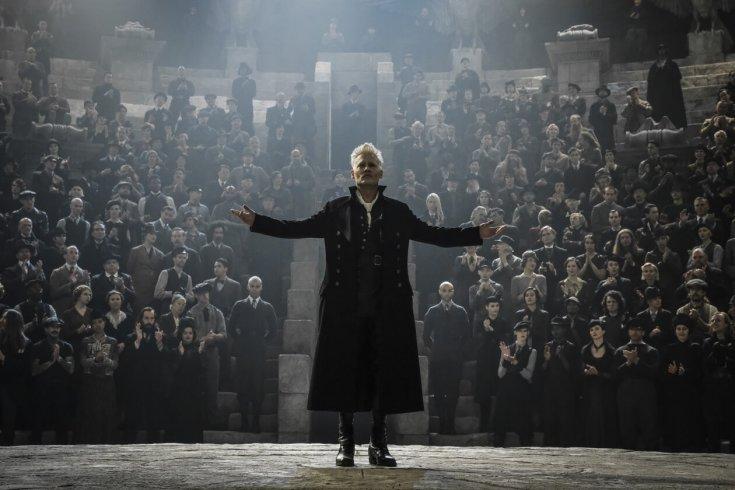 Johnny Depp as the dark wizard Gellert Grindelwald.