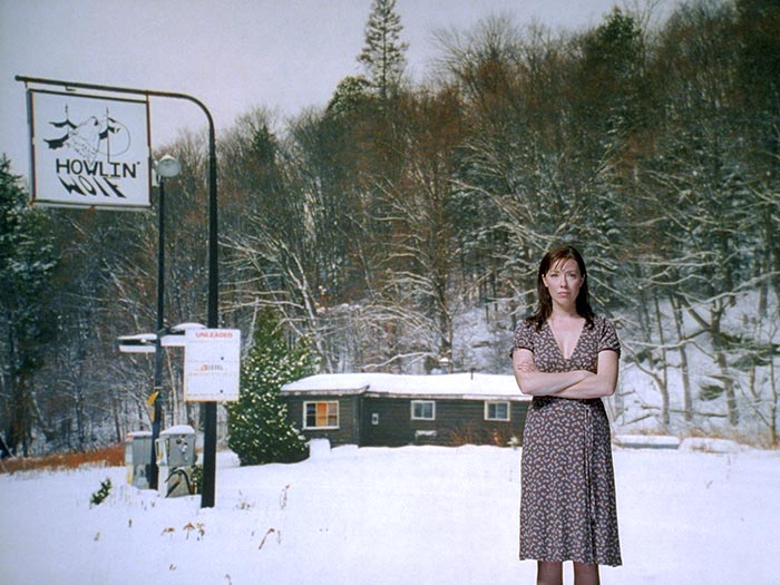 Still from Mark Lewis's Rear Projection: Molly Parker (2006)