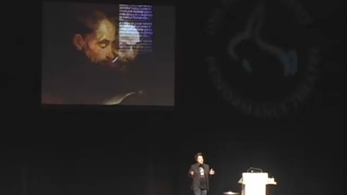 Video still from The Walrus Talks Tomorrow at High Performance Rodeo