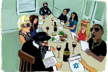 celebrities and jewish people sitting at a table