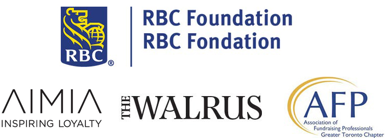 The Walrus Talks Philanthropy sponsor logos