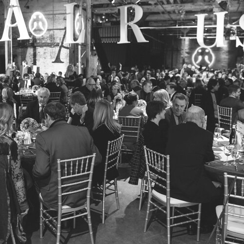 Black and white photo of guests at The Walrus Gala.