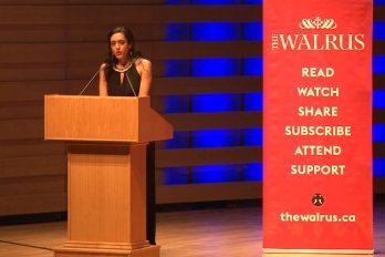 Video still from The Walrus Talks Philanthropy