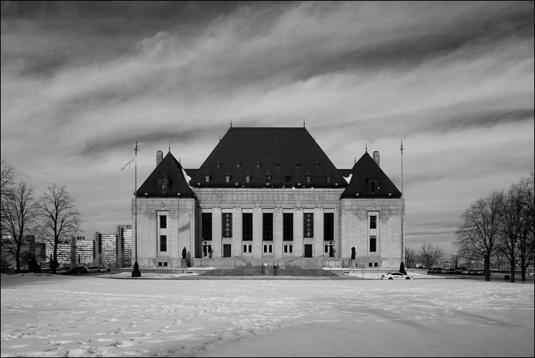 Photograph of the Supreme Court of Canada by Mike Alexander