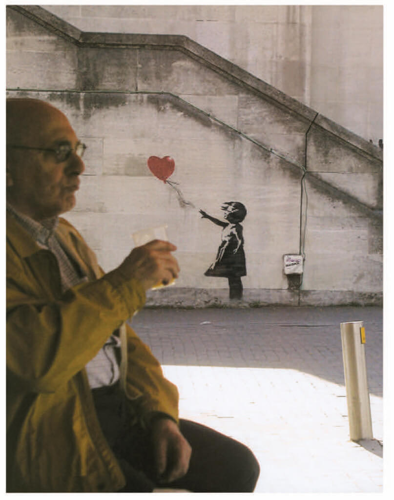 Banksy Framed Canvas Street  graffiti Urban  Art Print rat girl chair painting