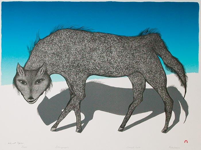 Pitaloosie Saila, Lost, 2007, lithograph, 56.7 x 76.5 cm (Cape Dorset)