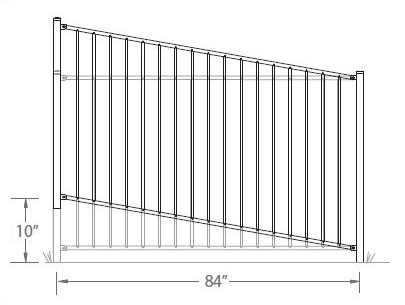 Rackable Aluminum Fence