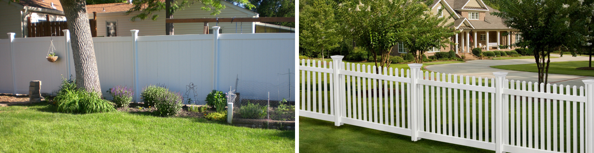 vinyl picket and privacy fence nodig