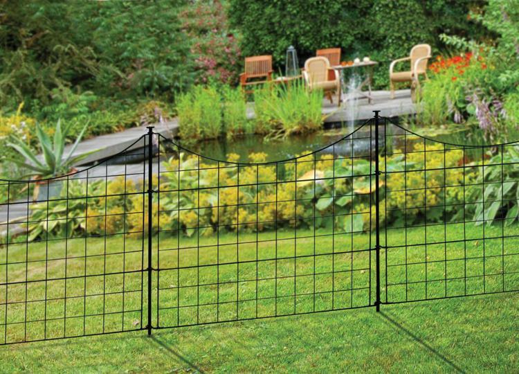 Semi Permanent Black Metal Zippity Garden Fence (25in Tall)