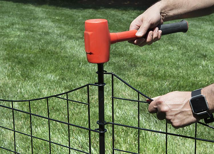 41in Tall Zippity Black Metal Garden Fence Gate