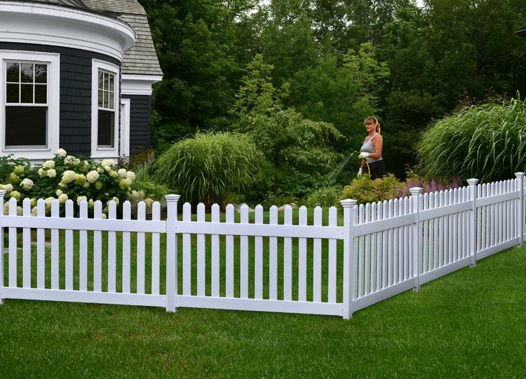 high newport vinyl picket fence wpost   dig