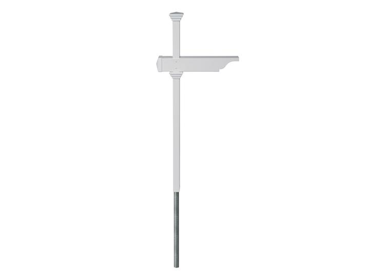 Rockport Mailbox Post W No Dig Steel Pipe Anchor Kit