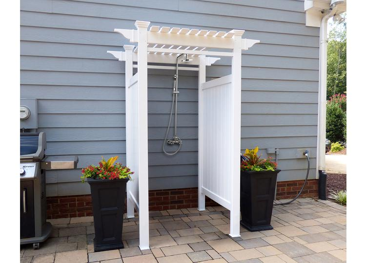 showers co cape kits studyfinder outdoor kit for bench shower cod cedar