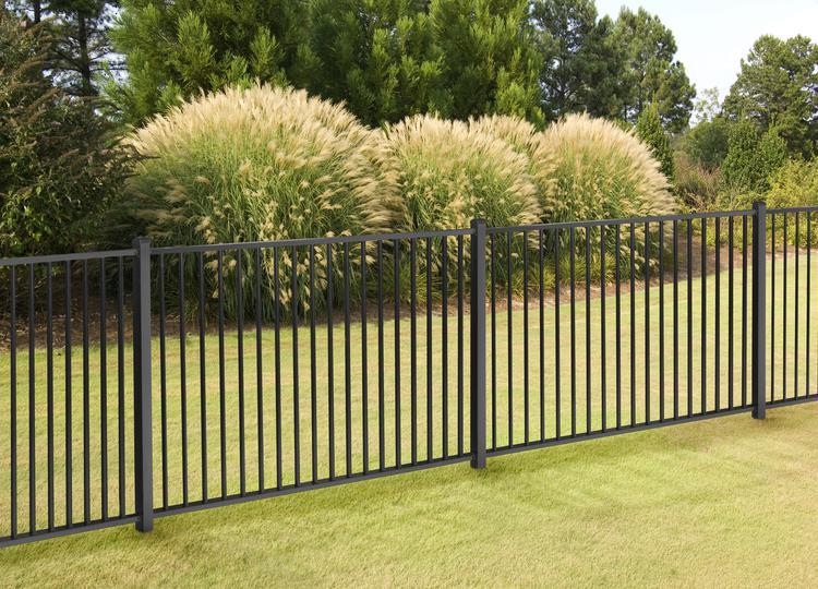 4ft h x 7ft w slim jim aluminum fence