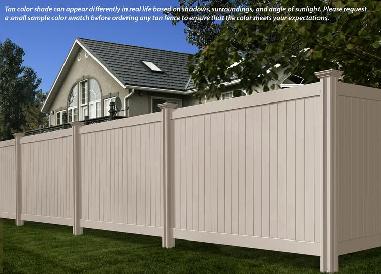 Steady Freddy Vinyl Fence Tan or Almond Color WamBam Fence