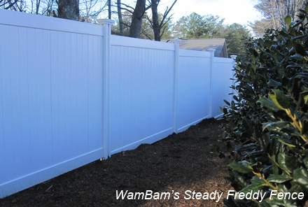 how to install aluminum fence on a slope