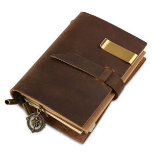 7felicity leather notebook