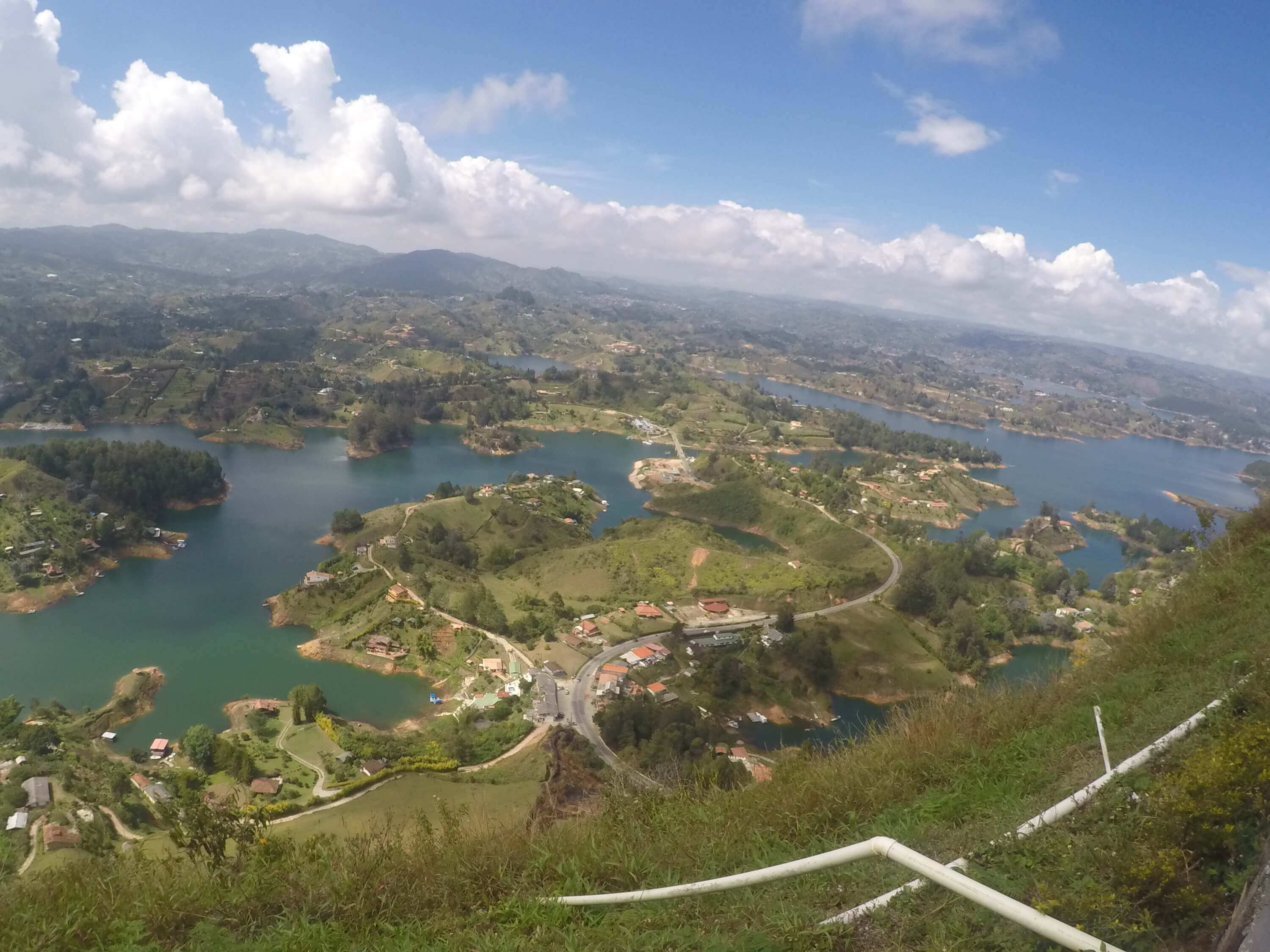 guatape rock from above