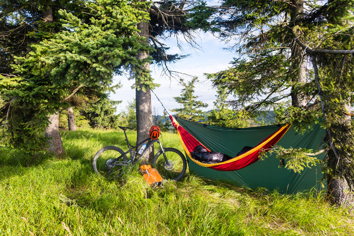 bike and camping