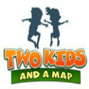 two kids and a map