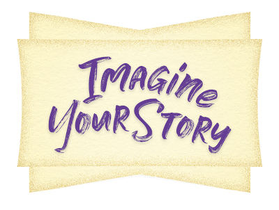 Imagine your story purple on tan d986965