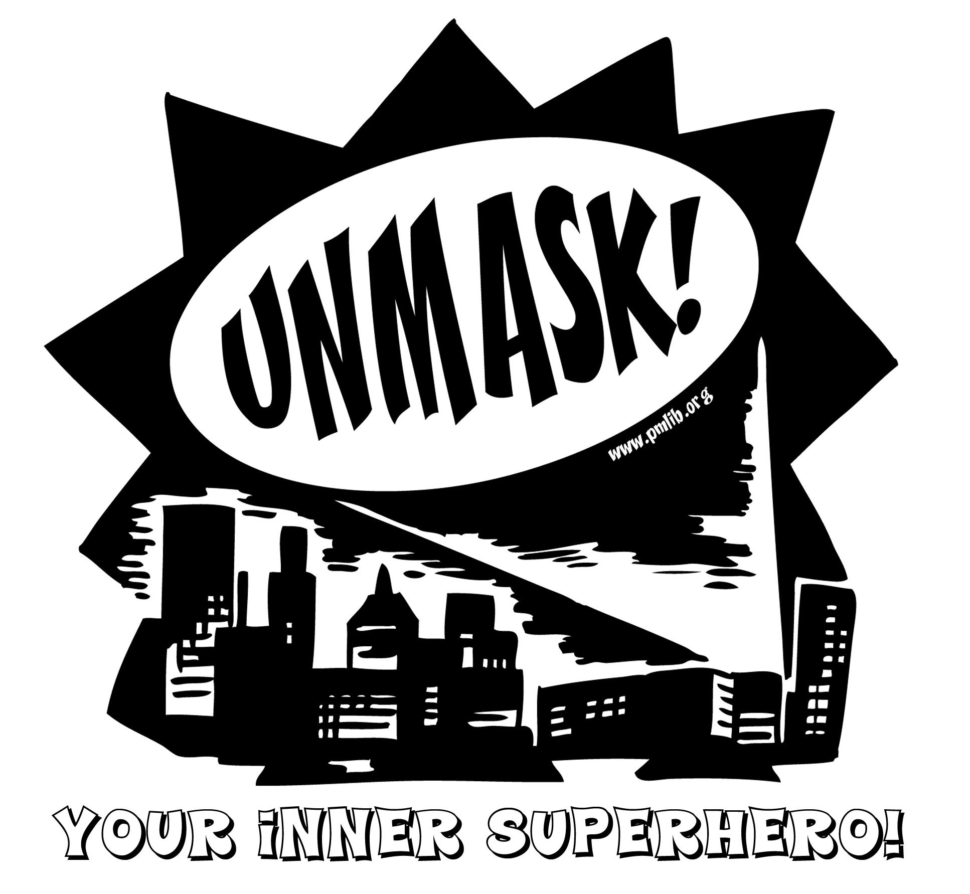 Unmask your inner superhero logo ff8d6616