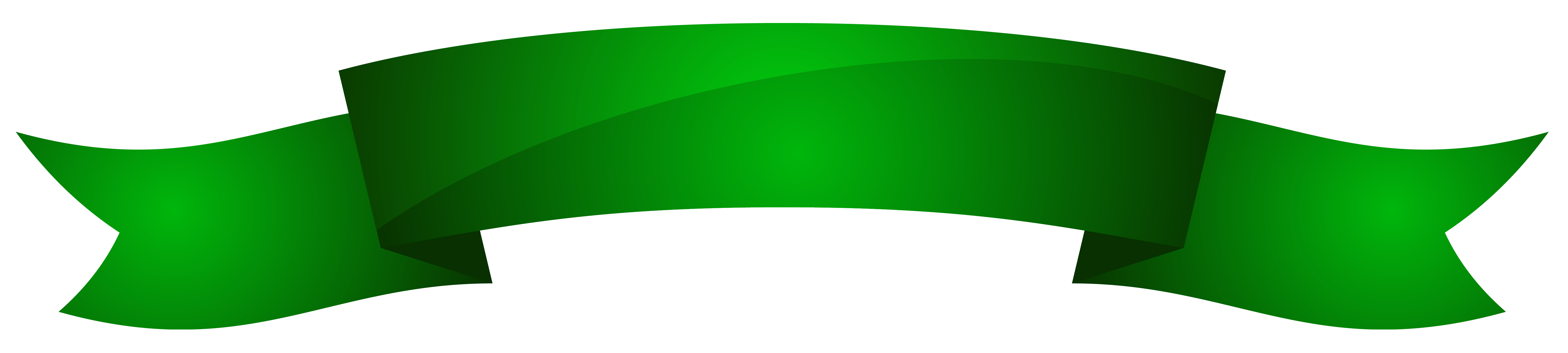 Green banner clipart png image