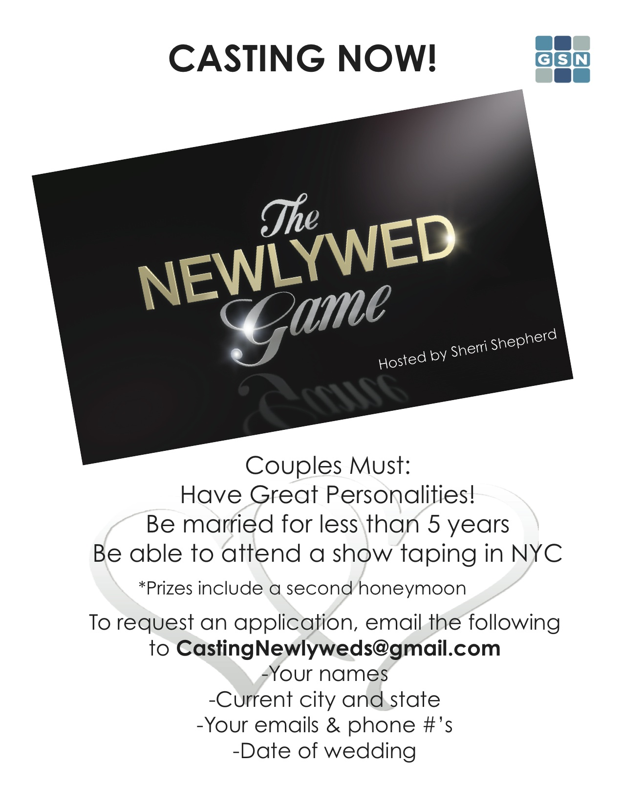 Casting For The Newlywed Game On Television