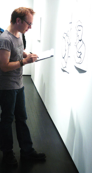 ART APPRAISAL: Departing WW art critic Richard Speer working his beat at PDX Contemporary in August 2012.
