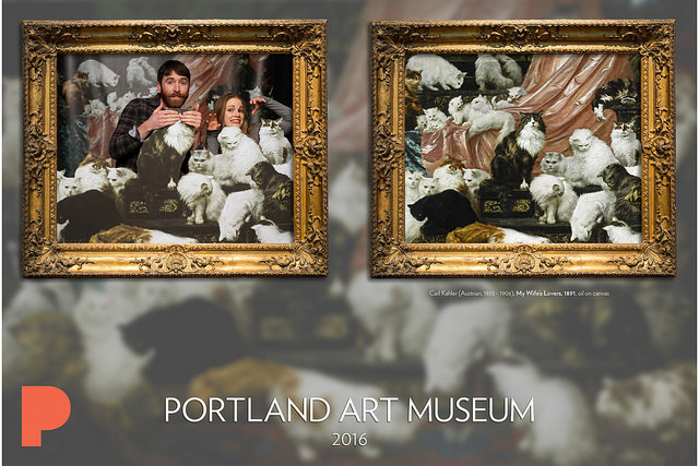 See all the cat photobooth photos on the Portland Art Museum's flickr page - www.flickr.com/photos/portlandartmuseum